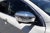 Хром на зеркала Nissan Qashqai II 2014+, фото 1