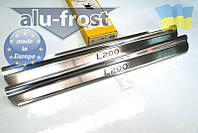 Накладки на пороги Alufrost для Mitsubishi L200, фото 1