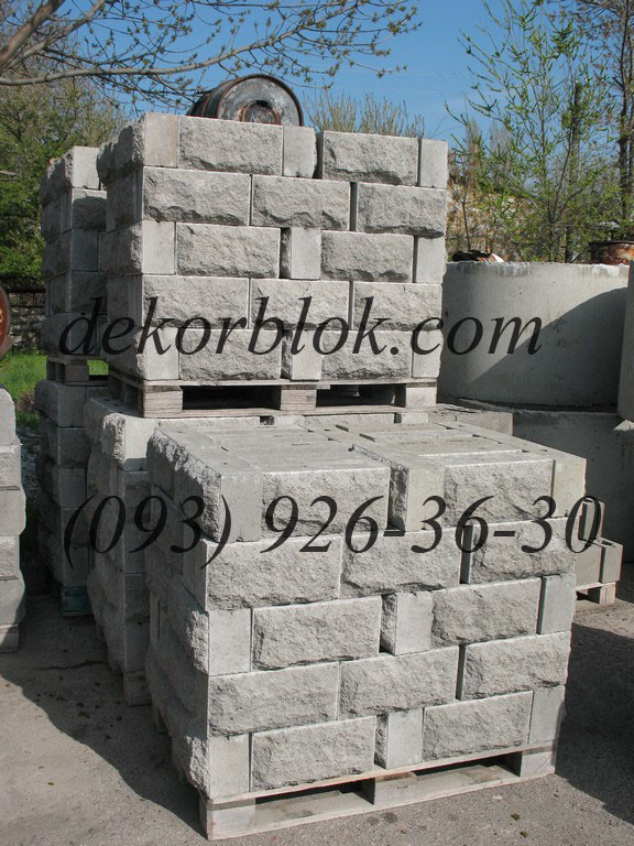 Блок бетонный декоративный для забора