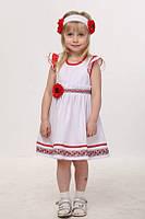 Платье для девочки в украинском стиле.Хлопок.92,110р