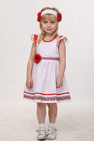 Платье для девочки в украинском стиле.Хлопок.