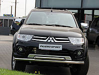 Защита переднего бампера Mitsubishi Pajero Sport NEW, фото 1