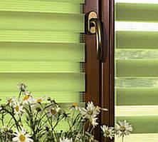 Тканевые ролеты День-ночь. Цвет- Оливка, 45 см х 170 см. Готовые размеры.