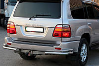 Защита заднего бампера Toyota LC 100, фото 1