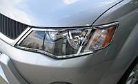 Хром передних фар EGR Mitsubishi Outlander XL