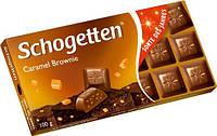 Шоколад молочный Schogetten Caramel с карамельной начинкой 100г.