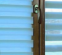 Тканевые ролеты День-ночь.Голубой, 62,5 см х 170 см. Готовые размеры. Жалюзи