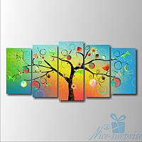 Модульная картина Волшебное дерево из 5 модулей, фото 1