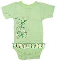 Детский боди-футболка р.80 ткань КУЛИР 100% тонкий хлопок ТМ Алекс 3087 Зеленый