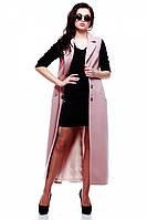 Эффектный модный удлиненный женский жилет.