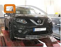 Защита переднего бампера Nissan X-Trail 2014+, фото 1