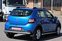 Защита заднего бампера Renault Sandero