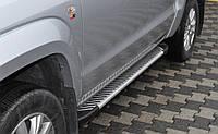 Пороги алюминиевые на Хайлюкс, фото 1