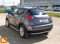 Защита заднего бампера Nissan Juke, фото 1