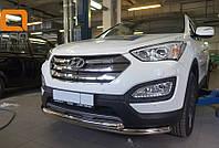 Защита переднего бампера Hyundai Santa Fe 2013+, фото 1