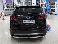 Защита заднего бампера для Hyundai Santa Fe 2013+, фото 1
