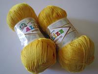Пряжа для вязания Бамбук файн 216 цыпленок неон
