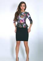 Платье  с баской  недорого  Юлия    размеры 44, 46, 48