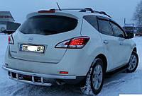 Защита заднего бампера Nissan Murano Z51 2008+