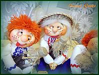 """Кукла интерьерная ручной работы """"Дружбан"""" на фото в центре"""