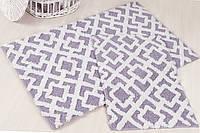 Набор ковриков для ванной  IRYA хлопок 60х100+45х60 FINLEY лиловый