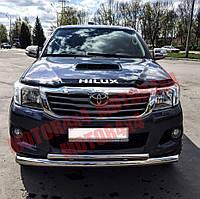 Защита бампера двойная Toyota Hilux