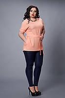Блуза-туника  мод 499-4 размер 48-50 абрикос
