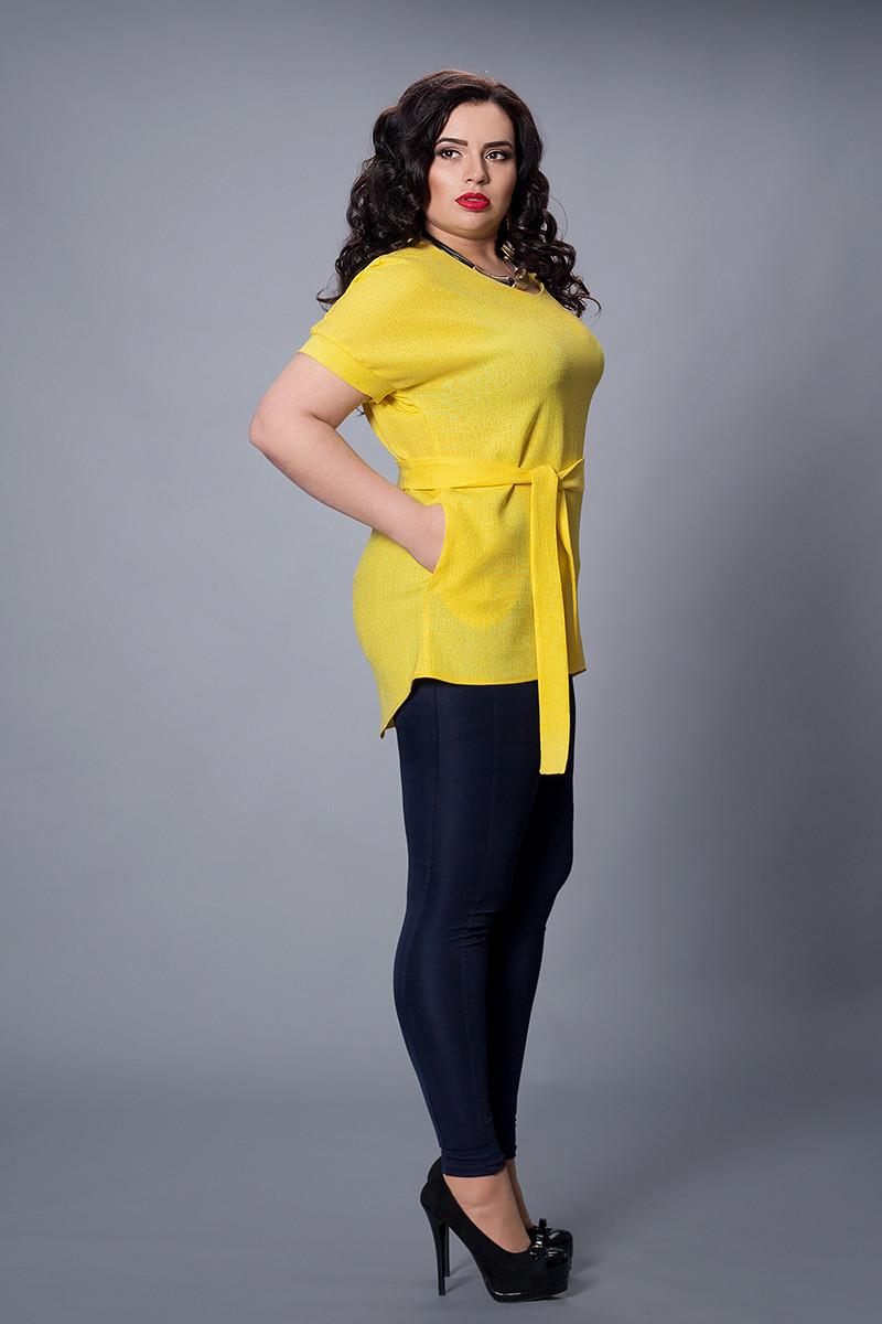 Блуза-туника  мод 499-5 размер 48-50 желтая