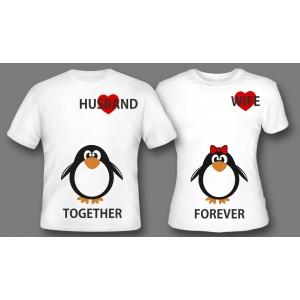 "Парные футболки ""Together forever"""