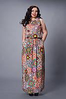 Платье мод №497-1, размер 48 бордовые круги