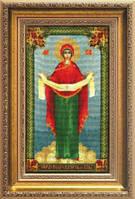 Набор для вышивки крестиком Икона Образ Пресвятой Богородицы Покрова