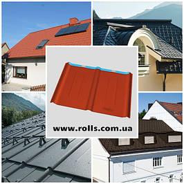 Dachplatte 600x420мм - Черепица алюминиевая PREFA Roof tile Кровельный лист из алюминия Prefalz P.10
