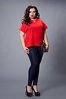 Блуза  мод 500-6 размер 50,52,54,56,58 красная