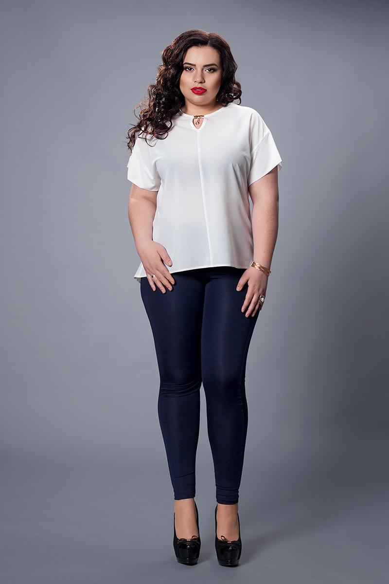 Блуза мод 500-7 розмір 52, молочна