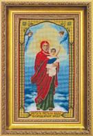 Набор для вышивки крестиком  Икона Образ Пресвятой Богородицы Благодатное Небо