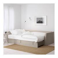 "IKEA ""ХОЛЬМСУНД"" Диван-кровать угловой, Нордвалла бежевый"