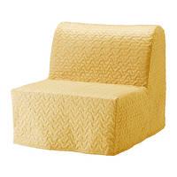 "IKEA ""ЛИКСЕЛЕ ЛЁВОС"" Кресло-кровать, Валларум желтый"