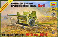 Сборная модель Zvezda (1:35) Британская 6-фунтовая противотанковая пушка MK-II