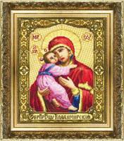 Набор для вышивки крестиком Икона Образ Пресвятой Богородицы Владимирской