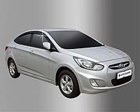 Дефлекторы окон ветровики Hyundai Accent 2010- (RB) sedan, фото 1