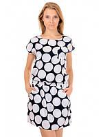 Платье летнее бело-синее Ника, фото 1