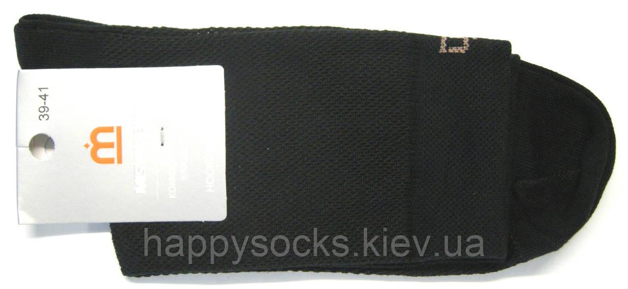 Летние мужские носки в сетку черного цвета