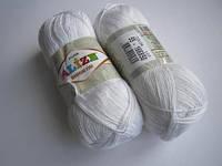 Пряжа для вязания Бамбук файн 55 белый