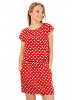 Платье летнее бело-красное Ника, фото 1