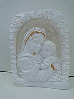 Матір Божа з Ісусиком підсвічник малий білий