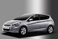 Дефлектори вікон вітровики Hyundai Accent 2010- (RB) HB