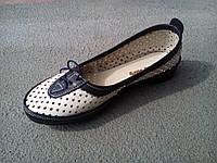 Балетки туфлі жіночі шкіряні літні 35 - 41 р, фото 1