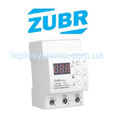 Реле напряжения ZUBR D32t  c термозащитой (DS Electronics, Украина), фото 2