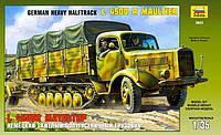 Сборная модель Zvezda (1:35) Немецкий тяжелый полугусеничный грузовик L 4500R Маультир