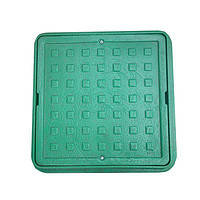 Люк квадратный Ромашка 420/540 (мини люк) зеленый